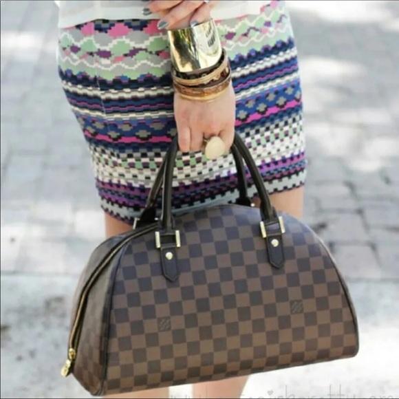 99f8b78890fa Louis Vuitton Handbags - Louis Vuitton Ribera MM Damier Ebene Handbag